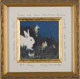 The Well Appointed House Fairies with Bunny Child's Framed Wall Art