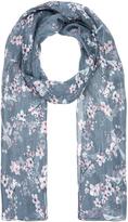 Accessorize Cherry Blossom & Bird Silk Scarf