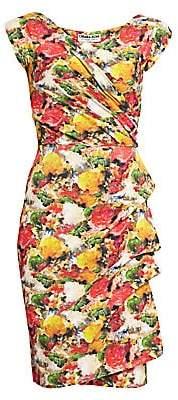 Chiara Boni Women's Egea Floral Ruffle Sheath Dress