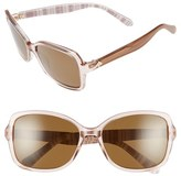 Kate Spade Women's 'Ayleen' 56Mm Polarized Sunglasses - Beige/ White Stripe