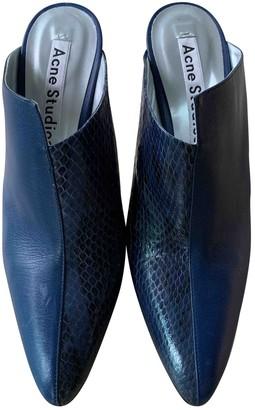 Acne Studios Blue Lizard Heels