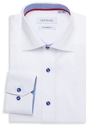 Levinas Tailored-Fit Long-Sleeve Dress Shirt