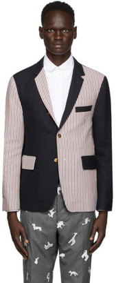 Thom Browne Multicolor Unconstructed Classic Double Face Blazer