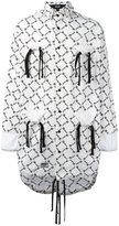 Kokon To Zai gathered pockets longline shirt - unisex - Cotton - S