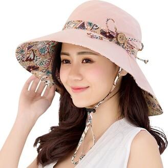 HAPEE Womens Sun Hat Hindawi Summer Reversible UPF 50+ Beach Hat Foldable Wide Brim Cap