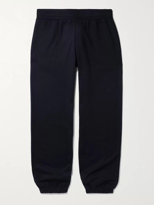 SSAM - Tapered Silk and Cotton-Blend Sweatpants - Men - Blue