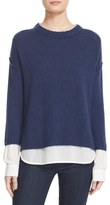 Brochu Walker 'Looker' Layered Crewneck Sweater