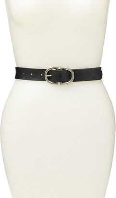 Melrose and Market Double Buckle Leather Belt