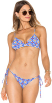 Milly Triangle Bikini Top in Blue. - size XS (also in )