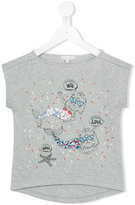 Little Marc Jacobs cat mermaid T-shirt - kids - Cotton/Modal - 3 yrs