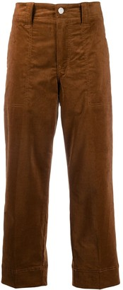 Closed Corduroy Straight-Leg Trousers