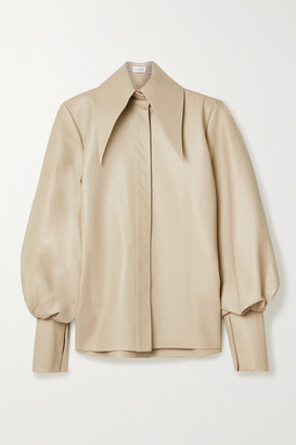 16Arlington Manika Leather Shirt - Beige