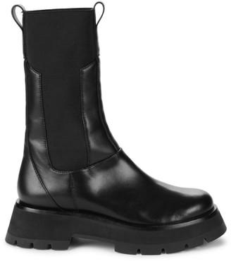 3.1 Phillip Lim Kate Lug-Sole Leather Combat Boots