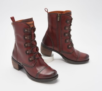PIKOLINOS Leather Lace-Up Ankle Boots