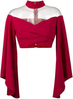 Balmain Off-Shoulder Top with Flared Sleeves