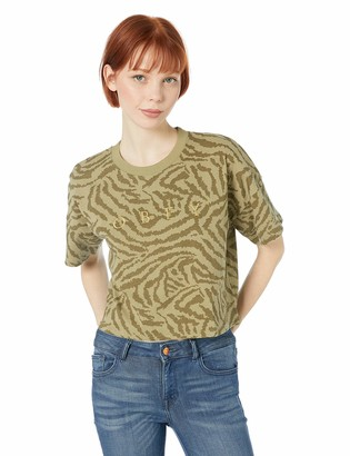 Obey Junior's MAD River Knit Crop TOP