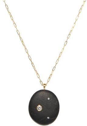 Cvc Stones Goth Diamond & 18kt Gold Pendant Necklace - Black