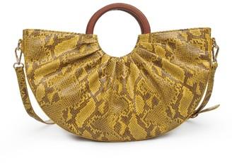 ELOQUII Snake Print Satchel Bag