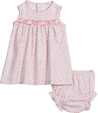 Kissy Kissy Girl's Unicorn Gardens Dress w/ Matching Bloomers, Size 6-24M
