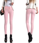 Angcoco Womens Pants Angcoco Womens Fashion High Waisted Skinny Stretchy Leggings Pencil Pants