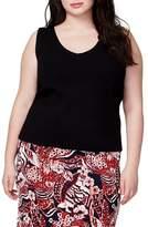 Rachel Roy V-Neck Knit Shell