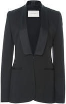 Carolina Herrera Satin Shawl Collar Blazer Jacket