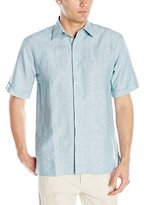 Cubavera Men's Short Sleeve Ombre Embroidery Woven Shirt