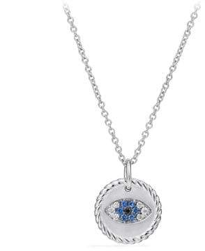 David Yurman Cable Collectibles Evil Eye Necklace With Diamonds And