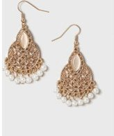 Dorothy Perkins Womens Pearl Chandelier Earrings- Cream