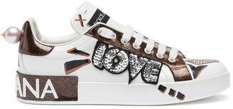 Dolce & Gabbana Portofino Love patch sneakers