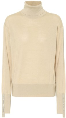 Burberry Merino-wool and silk turtleneck sweater