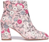 Stuart Weitzman Embroidered Canvas Ankle Boots