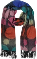 Paul Smith Multi-Colored Spot Lambswool Men's Scarf