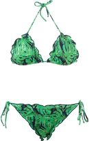 BRIGITTE printed triangle bra - women - Polyamide/Spandex/Elastane - GG