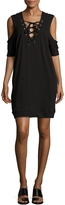 Blank NYC BLANKNYC Women's Lace-Up Cold-Shoulder Dress
