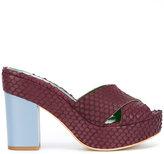 Danielapi embossed platform sandals - women - Leather/rubber - 38