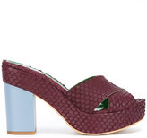 Danielapi embossed platform sandals - women - Leather/rubber - 40