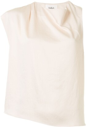 BA&SH Rosier asymmetric sleeve blouse
