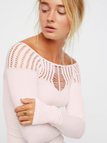 Free People Cut Out Neck Long Sleeve Top
