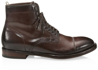 Officine Creative Emory Leather Lace-Up Ankle Boots