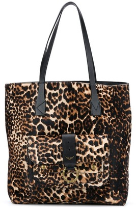 Zadig & Voltaire Kate leopard print shopper tote