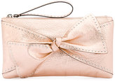 RED Valentino bow applique clutch bag - women - Leather - One Size