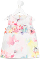 Simonetta floral print ruffled top - kids - Polyester - 8 yrs