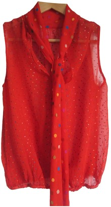 Clements Ribeiro Red Silk Top for Women Vintage