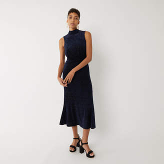 Warehouse VELVET SLEEVELESS MIDI DRESS