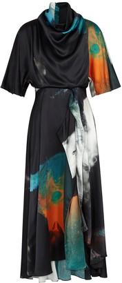 Roksanda Senja printed silk midi dress