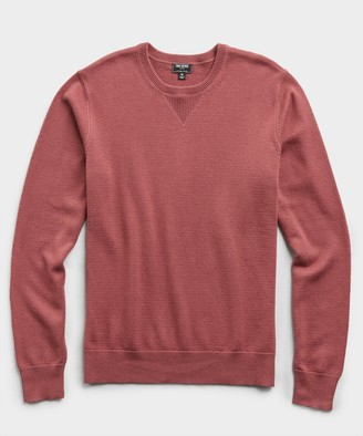 Todd Snyder Cotton Cashmere Sweater in Mulberry