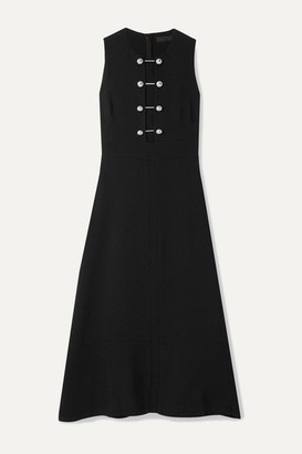 Proenza Schouler Embellished Crepe Midi Dress - Black