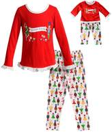 "Dollie & Me Girls 4-14 Nutcracker Princess"" Ruffled Top & Bottoms Pajama Set"
