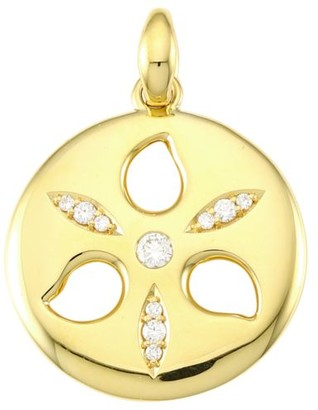 Tamara Comolli 18K Yellow Gold & Diamond Medium Sand Dollar Pendant